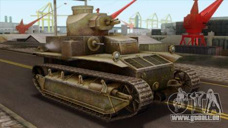T2 Medium Tank pour GTA San Andreas