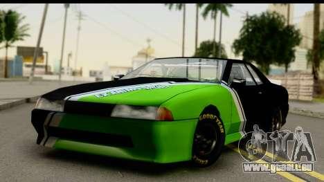 Elegy NASCAR PJ 2 für GTA San Andreas Rückansicht