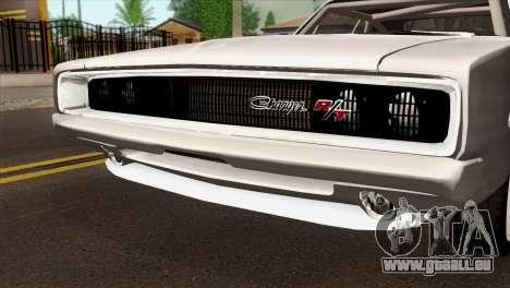 Dodge Charger 1968 für GTA San Andreas Rückansicht