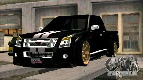 Isuzu D-Max X-Series pour GTA San Andreas vue intérieure