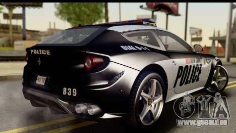 NFS Rivals Ferrari FF Cop pour GTA San Andreas laissé vue