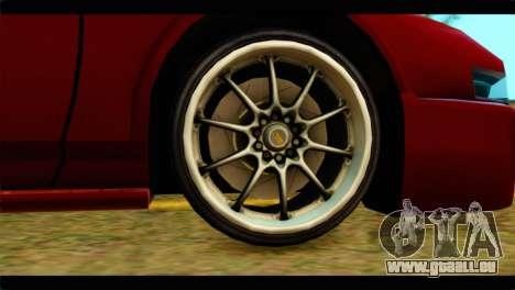Infernus Rapide S Stock pour GTA San Andreas sur la vue arrière gauche