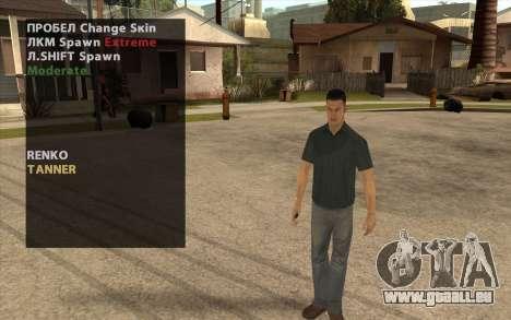 John Tanner DRIV3R pour GTA San Andreas deuxième écran