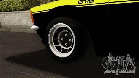 Opel Kadett E GTE 1900 Italian Rally pour GTA San Andreas sur la vue arrière gauche