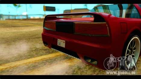 Infernus Rapide S Stock pour GTA San Andreas vue de droite