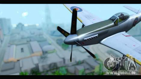 P-51 Mustang Mk4 pour GTA San Andreas vue de droite