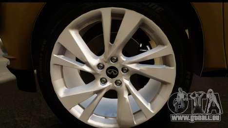 Infiniti JX 35 2013 pour GTA San Andreas vue arrière