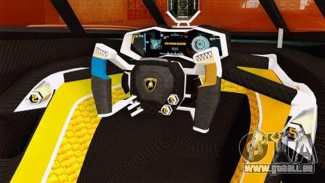 Lamborghini Egoista für GTA San Andreas rechten Ansicht