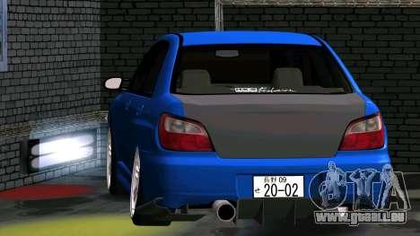 Subaru Impreza WRX pour GTA San Andreas vue arrière