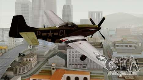 P-51D Mustang Da Quake pour GTA San Andreas laissé vue