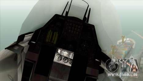 F-16C Fighting Falcon Wind Sword Squadron für GTA San Andreas Rückansicht