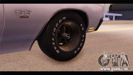 Chevrolet Chevelle 1970 3D Shadow pour GTA San Andreas sur la vue arrière gauche