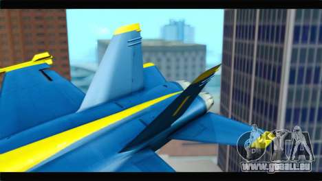 McDonnell Douglas FA-18 Blue Angel für GTA San Andreas zurück linke Ansicht