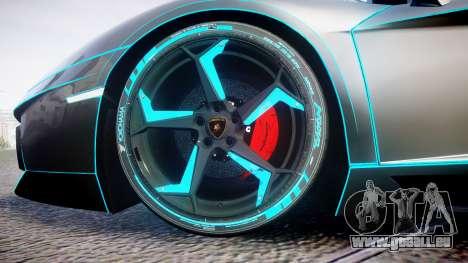 Lamborghini Aventador TRON Edition [EPM] Updated pour GTA 4 Vue arrière