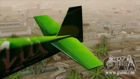 GTA 5 Stuntplane Spunck pour GTA San Andreas sur la vue arrière gauche