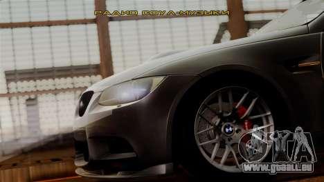 BMW M3 E92 GTS 2012 v2.0 Final pour GTA San Andreas vue de dessous