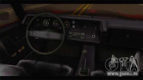 Chevrolet Chevelle 1970 Flat Shadow pour GTA San Andreas vue de droite