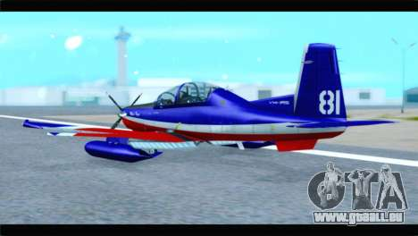 Beechcraft T-6 Texan II Red pour GTA San Andreas laissé vue