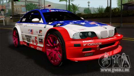 BMW M3 GTR 2001 Prototype Technology Group für GTA San Andreas