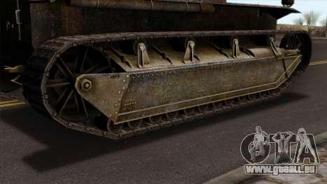 T2 Medium Tank pour GTA San Andreas sur la vue arrière gauche