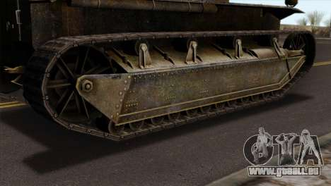T2 Medium Tank für GTA San Andreas zurück linke Ansicht