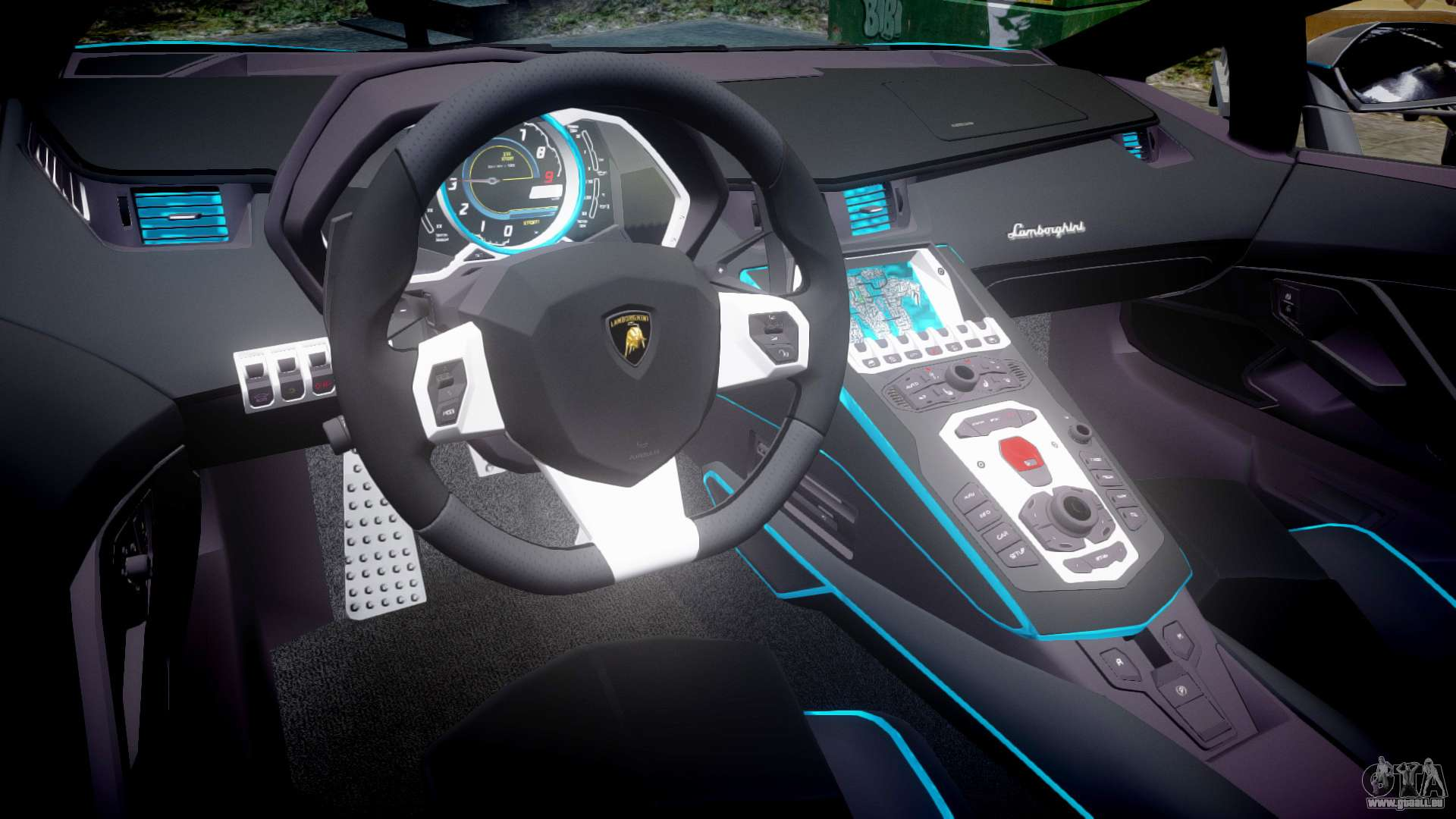 lamborghini aventador tron edition epm updated pour gta 4. Black Bedroom Furniture Sets. Home Design Ideas