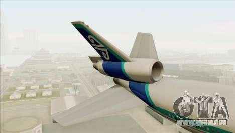 DC-10-30 Air New Zealand pour GTA San Andreas sur la vue arrière gauche