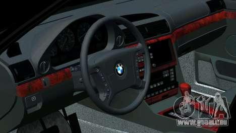 BMW 750i e38 pour GTA San Andreas salon