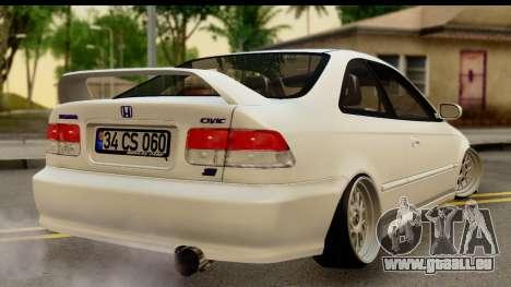 Honda Civic Si Coupe für GTA San Andreas linke Ansicht