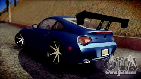 BMW Z4M Coupe 2008 pour GTA San Andreas laissé vue