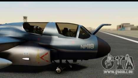 Northrop Grumman EA-6B ISAF pour GTA San Andreas vue arrière