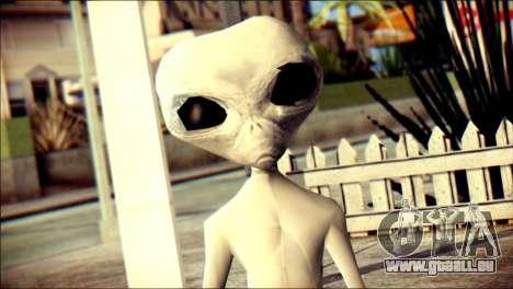 Gray Alien Skin Skin pour GTA San Andreas troisième écran