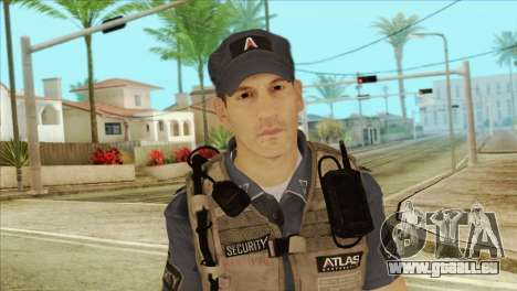 COD Advanced Warfare Jon Bernthal Security Guard für GTA San Andreas dritten Screenshot