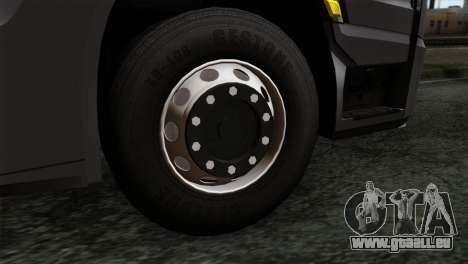 Mercedes-Benz Actros MP4 Euro 6 IVF für GTA San Andreas zurück linke Ansicht