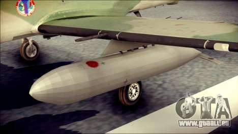 Embraer EMB-314 Super Tucano E für GTA San Andreas rechten Ansicht