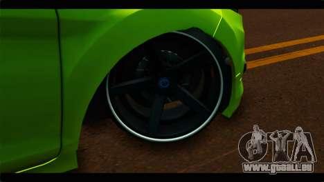 Ford Fiesta pour GTA San Andreas sur la vue arrière gauche