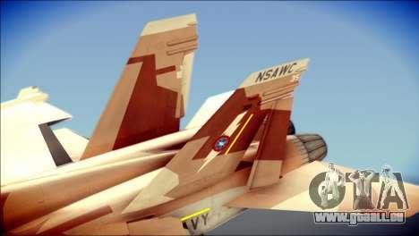 F-22 Raptor Starscream für GTA San Andreas zurück linke Ansicht