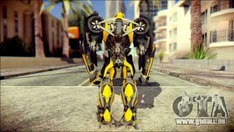 Bumblebee Skin from Transformers für GTA San Andreas zweiten Screenshot