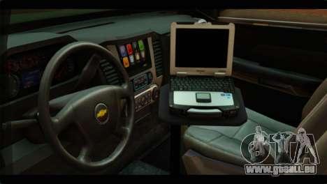 Chevrolet Suburban 2015 SANG für GTA San Andreas rechten Ansicht