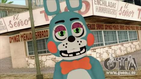 Toy Bonnie from Five Nights at Freddy 2 pour GTA San Andreas troisième écran