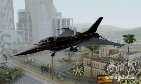 F-16XL für GTA San Andreas Rückansicht