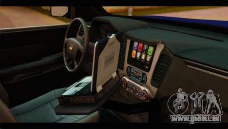 Chevrolet Suburban 2015 BCSD Sheriff für GTA San Andreas rechten Ansicht