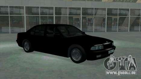 BMW 750i e38 pour GTA San Andreas vue arrière