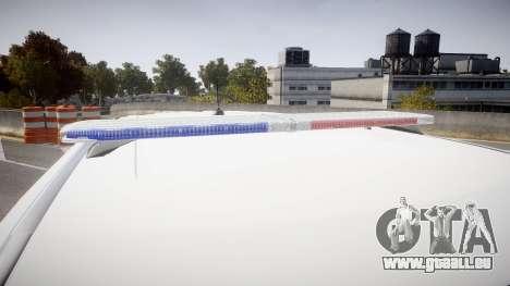 Ford Explorer 2011 Elizabeth Police [ELS] für GTA 4 Rückansicht