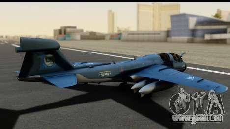 Northrop Grumman EA-6B ISAF pour GTA San Andreas sur la vue arrière gauche