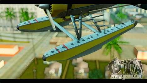 GTA 5 Sea Plane pour GTA San Andreas vue arrière
