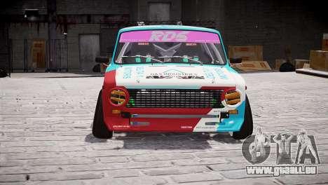 VAZ 2101 für GTA 4 hinten links Ansicht