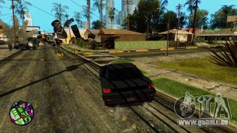 Transport V2 au lieu de balles pour GTA San Andreas troisième écran