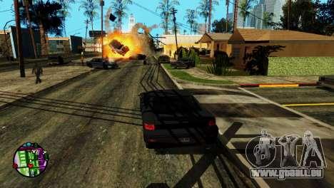 Transport V2 au lieu de balles pour GTA San Andreas quatrième écran