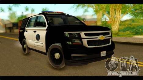 Chevrolet Suburban 2015 SAPD pour GTA San Andreas